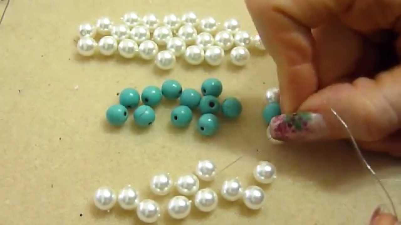 Amato DIY tutorial bracciale antiallergico cristalli e perline gioielli  JP64