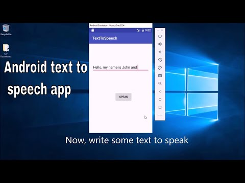 How to create  android Text To Speech  app using android studio