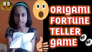 Origami Fortune Teller || Fun Game for Kids