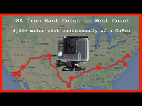 GoPro Continuous Timelapse Coast-to-Coast in the USA 🚗 RKVC