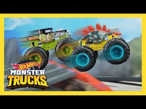 ТУРНИР ОБРЫВ ВУЛКАНА MONSTER TRUCKS! | Monster Trucks | Hot Wheels