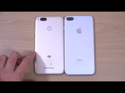 Xiaomi Mi A1 vs iPhone 7 Plus - Review (4K)