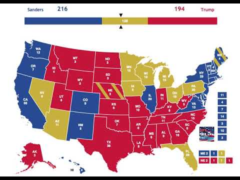 2020 Election Prediction | Bernie Sanders vs Donald Trump | January 2nd, 2019