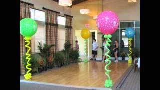 видео украшение шарами на день рождения