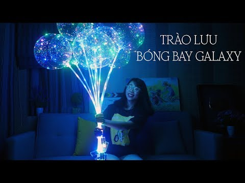 LÀM CHÙM BÓNG BAY DẢI NGÂN HÀ - GALAXY BALLON