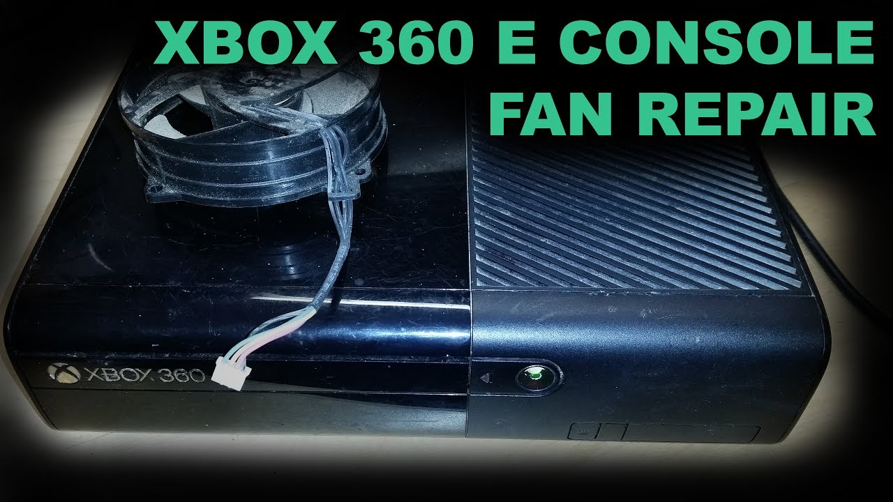 Faulty Xbox 360 E Console Repair - Dead Cooling Fan Replacement Guide on