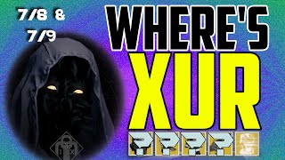 where s xur xurs location today july 8 july 9 7 8 7 9