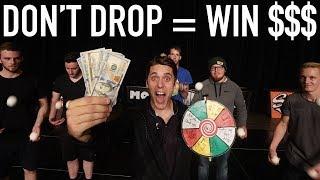 LAST PERSON JUGGLING WINS THE CASH! *Don't drop challenge*