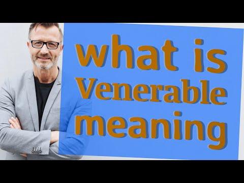 Venerable | Definition