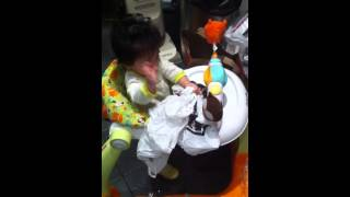 9 month old goes through recycle bag