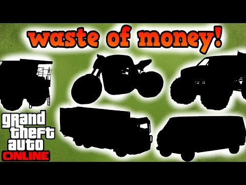 Top 5 Vehicles that are a waste of money! - GTA online