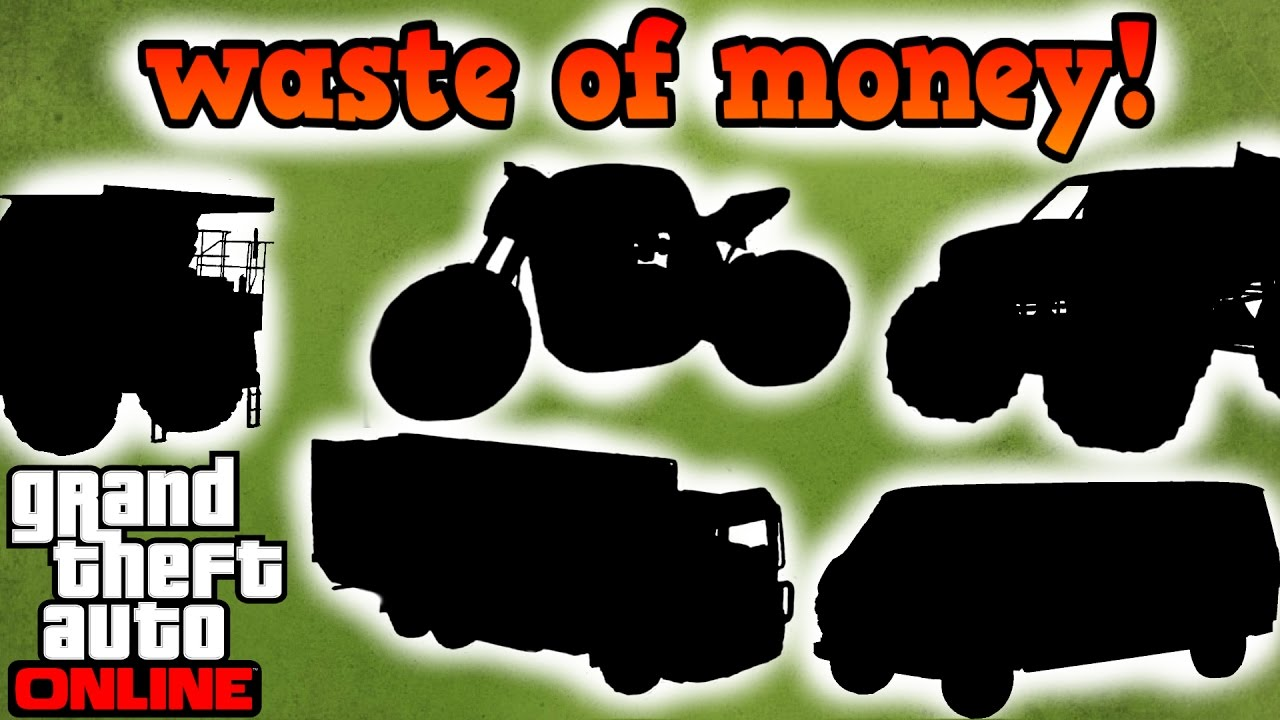 Top vehicles that are a waste of money gta online youtube