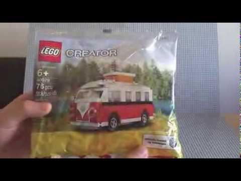 LEGO VW Volkswagen T1 Camper Van / Bus Polybag set 40079 Build & Review