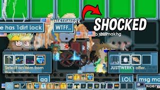 Davinci Wing Player Got Shocked After see 20bgls│Noob vs Pro│Growtopia