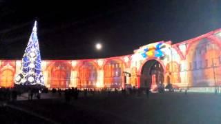 Лазерное шоу на Дворцовой площади 27.12.2015
