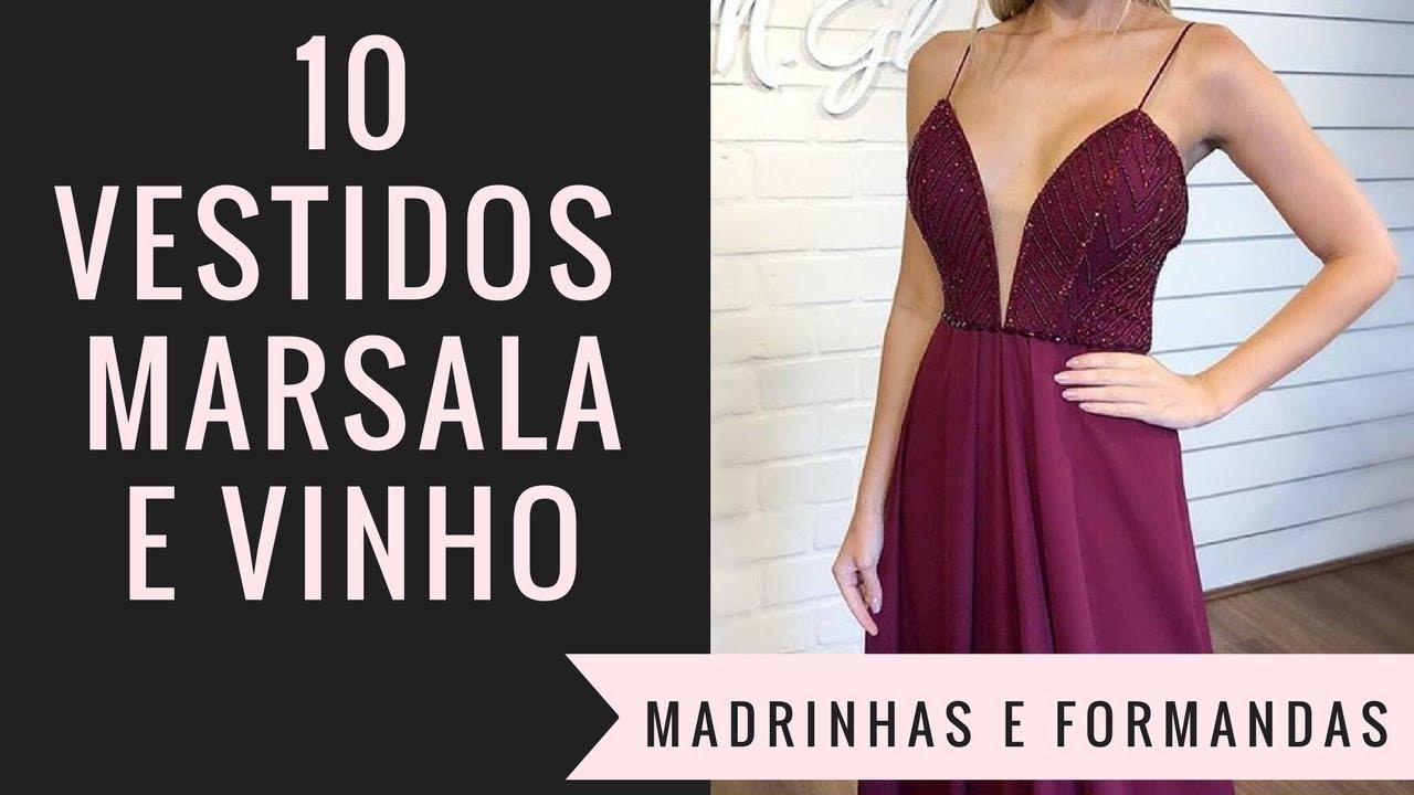 10 Vestidos De Festa Marsala E Vinho 2018