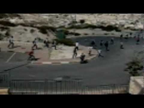 Teenage Arab hords running through Nof Zion