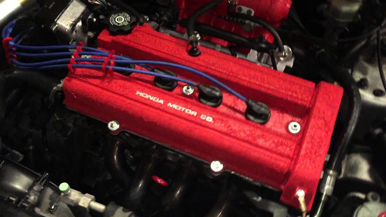 Acura Integra GS Engine Bay And Rev YouTube - Acura integra gsr engine