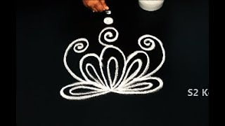 Easy and latest freehand rangoli designs || creative muggulu designs || simple kolam without dots
