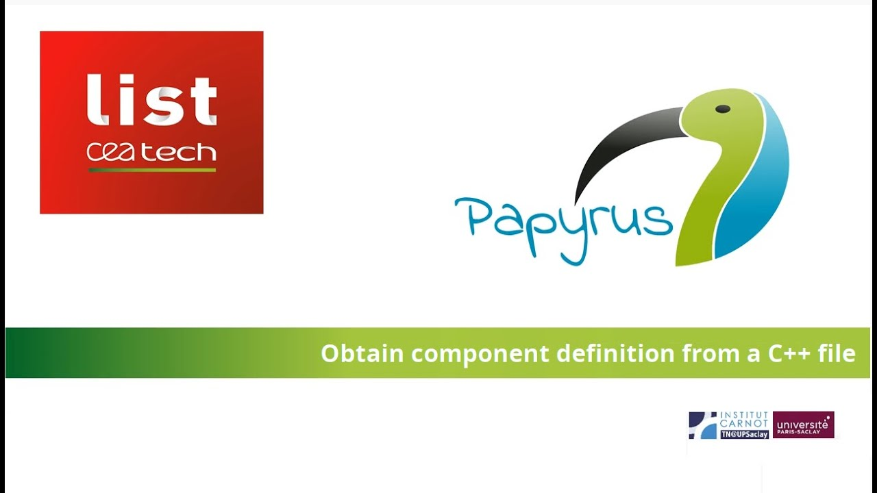 Papyrus for Robotics - obtain a component definition from ...