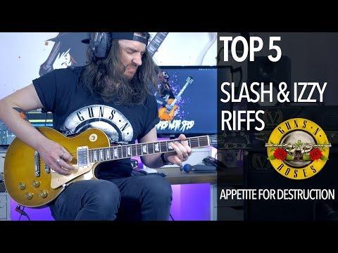 Top 5 Slash/Izzy Riffs (Guns N' Roses – Appetite For Destruction)