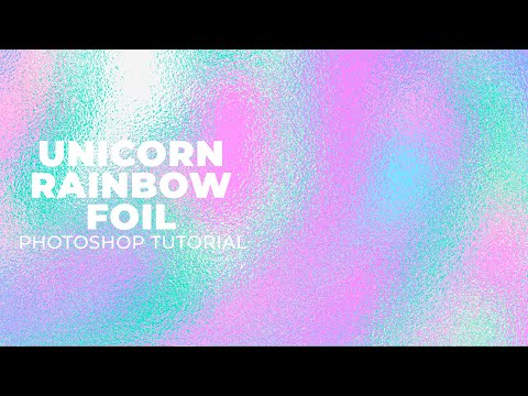 Photoshop Pattern Tutorial: Unicorn Rainbow Metallic Foil Effect