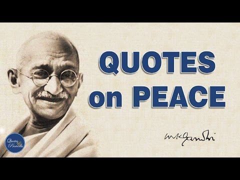 Gandhi's quotes on Peace