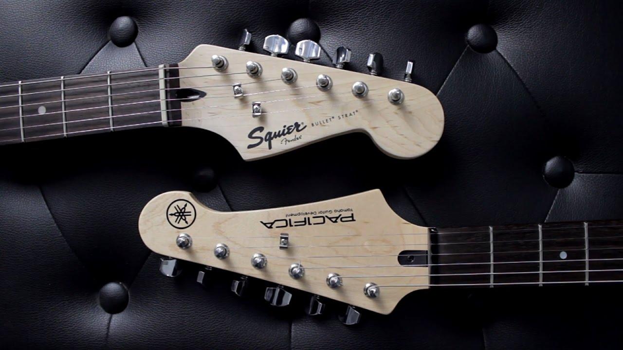 squier bullet strat vs yamaha pacifica 012 guitar battle. Black Bedroom Furniture Sets. Home Design Ideas