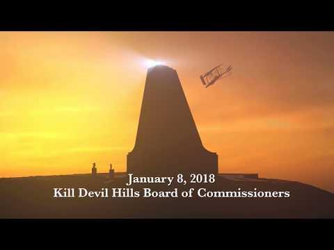 January 8, 2018 Kill Devil Hills Board of Commissioners Meeting
