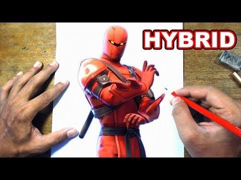 FORTNITE Drawing HYBRID - How to Draw HYBRID | Step-by-Step Tutorial - Fortnite Season 8