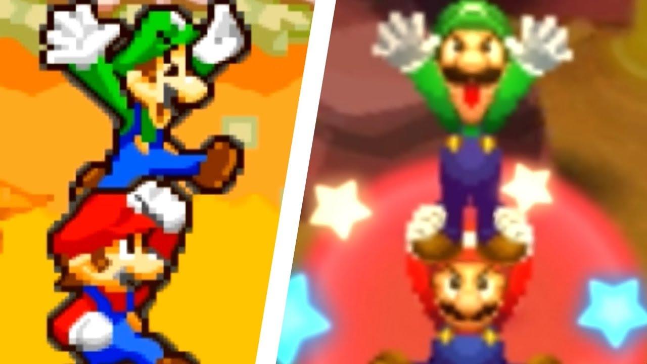 Mario Luigi Superstar Saga 3ds All Bros Attacks Comparison