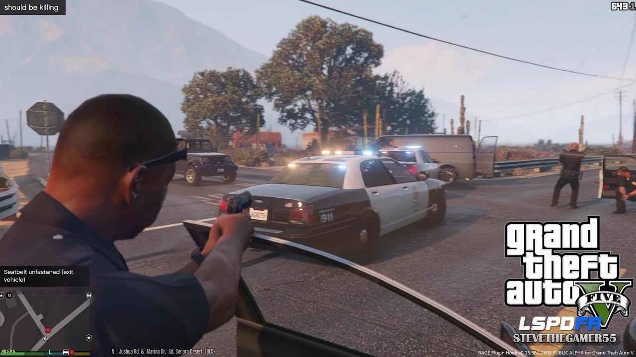 GTA 5 - LSPDFR - EPiSODE 14 - LET'S BE COPS - CITY PATROL & GTA 5 K9 (GTA 5  PC POLICE MODS)