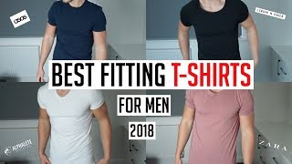 BEST FITTING T-SHIRTS FOR MEN IN 2018 (Asos, Zara, Reiss, Alphalete)