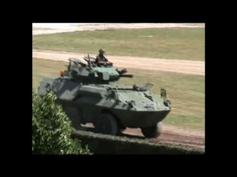 Tankfest 2010 exclusive Canadian 6x6 Cougar footage