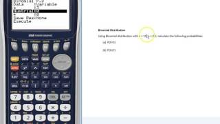 Binomial probabilities with a Graphics Calculator