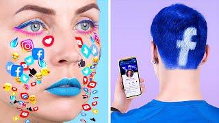 ابتكارات تجميل غريبه! أفكار ميك آب ، فن ضوافر وتسريحات شعر للسوشيال ميديا