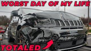 I Wrecked My Trackhawk! Car Flipped Twice!