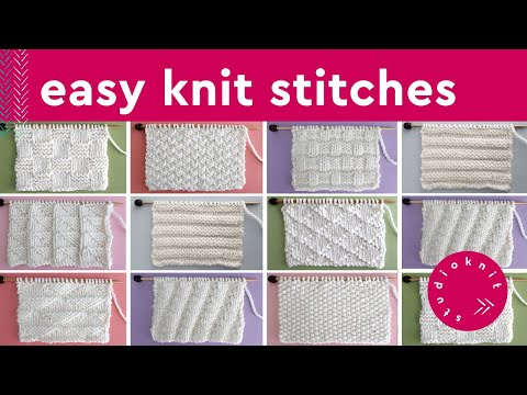 KNIT STITCH PATTERNS FOR BEGINNERS ► Day 12 Absolute Beginner Knitting Series