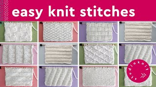 KNIT STITCH PATTERNS FOR BEGINNERS by Studio Knit