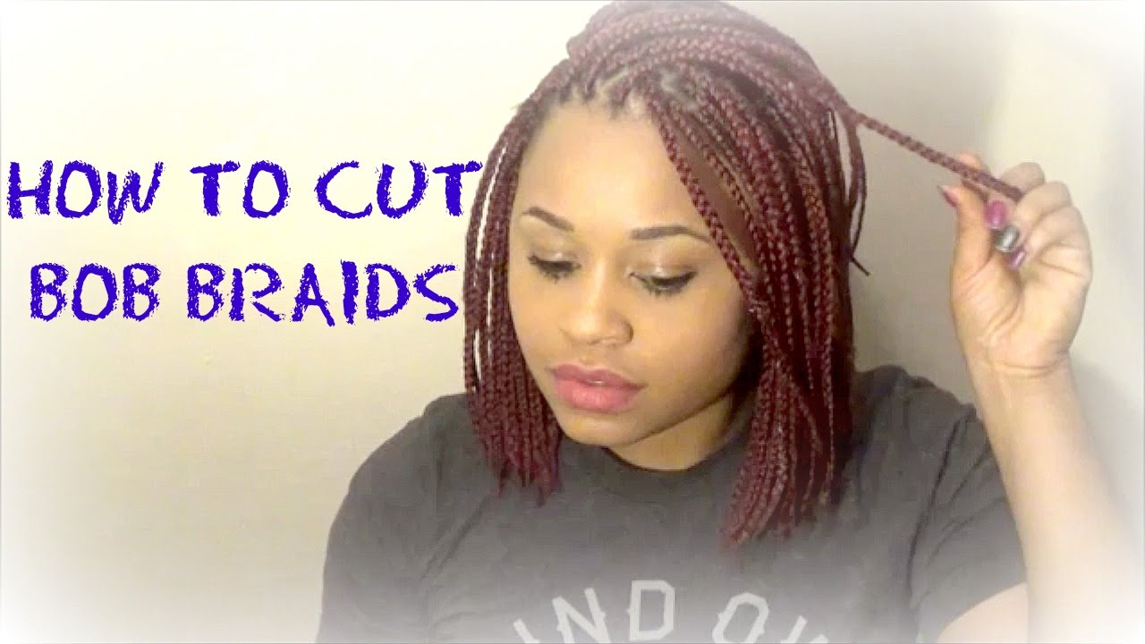 How To Cut Bob Braids Red Bob Braids Youtube