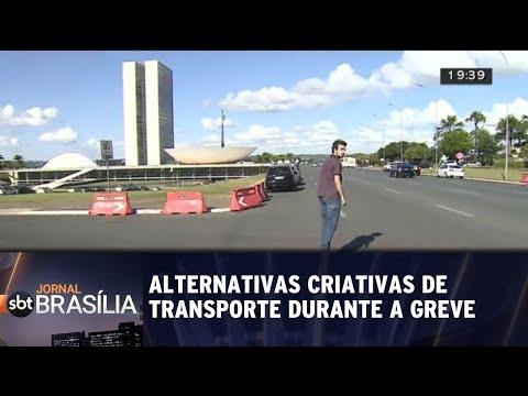 Brasilienses usam alternativas criativas de transporte | Jornal SBT Brasília 29/05/2018