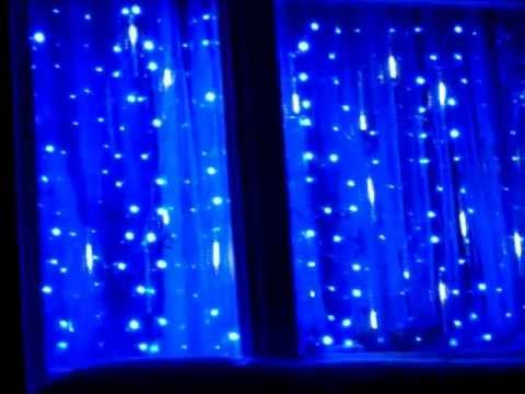 Snowfall Curtain Lights Christmas Lighting Doovi