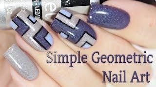Simple Geometric Nail Art / Простой геометрический дизайн ногтей