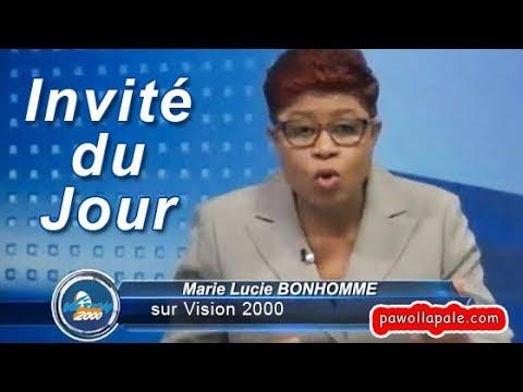 Pwofesè Christian Rousseau & Ansyen Minis Anviwònman Pierre Simon lan mikwo Marie-Lucie Bonhomme