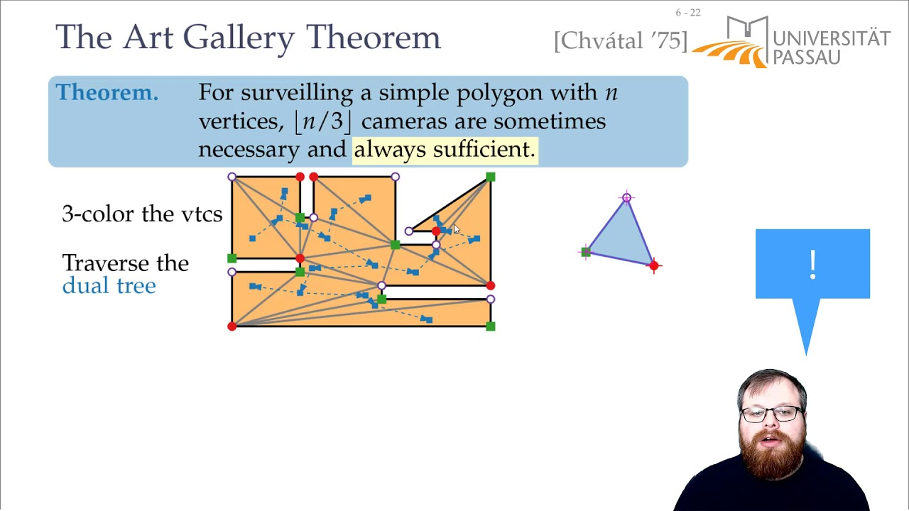 The Art Gallery Problem and Polygon Triangulation (2/4 ...