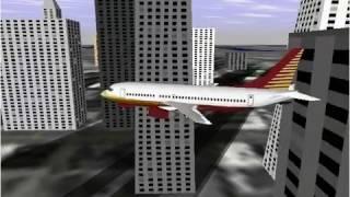 Flying off a building - Flight Simulator 98
