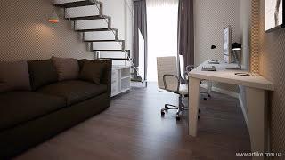 Дизайн интерьера квартиры (г.Киев)(Дизайн интерьера выполнен студией ARTlike (г.Киев, http://www.artlike.com.ua/, (044) 331-63-58). Эта двухуровневая квартира в ЖК..., 2015-05-13T16:17:36.000Z)