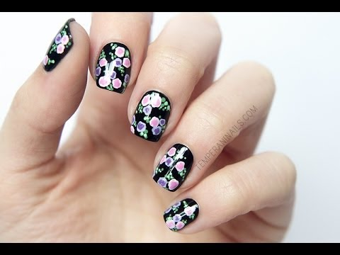 abstract flowers nail art tutorial  youtube