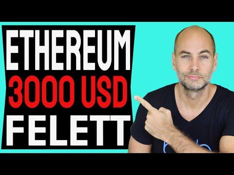 ETHEREUM 3000 DOLLÁR FELETT [Részletek]