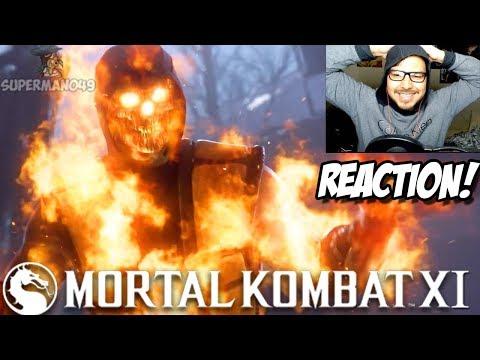 REACTION TO MORTAL KOMBAT 11 REVEAL TRAILER! - Mortal Kombat 11 Reveal Trailer Reaction